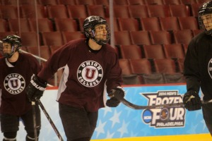 Union College senior hockey player Cole Ikkala, a Downingtown West grad, returns home tonight to lead his team against Boston College in the semifinals of the Frozen Four at the Wells Fargo Center. (Candice Monhollan)
