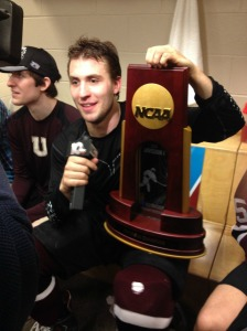 Cole Ikkala was able to go out on top with Union College as National Champions. (Candice Monhollan)