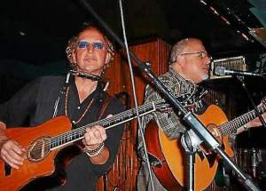 Rex Fowler, left, and Neal Shulman, right, who together make Aztec Two-Step, are bringing their brand of folk rock to the Flash May 16. (Aztec Two-Step)