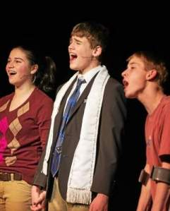 """From left to right, Karalyn Joseph (Patrice), Gianni Palmarini (Evan) and Will Rotsch (Archie), will be performing """"13 The Musical"""" at the Media Theatre beginning May 30. (Karalyn Joseph)"""