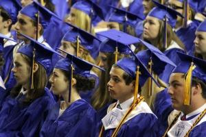 Unionville seniors at their graduation on Wednesday, June 4, 2014. (Candice Monhollan)