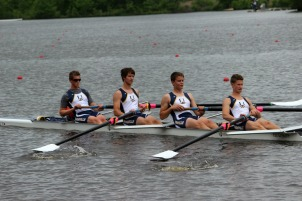 Justin Best, third from left, will be rowing for the United States in the CanAmMex Regatta in Nova Scotia July 11 and 12. (Candice Monhollan)