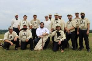 Men and women decked out in period garb descended on the small town of Gettysburg, but not for a reenactment of the Civil War. Instead, it was to play ball. (Candice Monhollan)