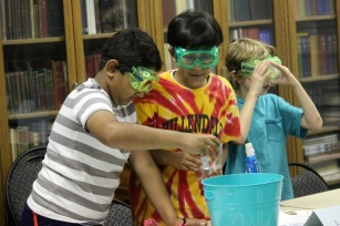 The Science in the Summer program at the Bayard Taylor Memorial Library is a week-long camp, sponsored by GlaxoSmithKline, the Franklin Institute and the Chester County libraries. It is free, but only a limited space was open. (Candice Monhollan)