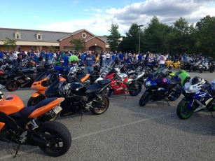 Over 400 motorcycles took part in the ride to honor fallen firefighter Ryan Miller. (Candice Monhollan)