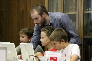 The Bayard Taylor Memorial Library brings fun to learning with the Google Maker camp. (Candice Monhollan)