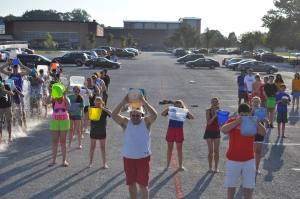 The Unionville High School marching band took on the ALS Ice Bucket Challenge and raised over $250 in support of the ALS Association and in honor of a band parent who has the disease. (Jo-Anne Darragh)