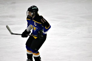 Downingtown East captain Katie Stueve notched a hat trick in a 4-1 win over West Chester East. (Candice Monhollan)