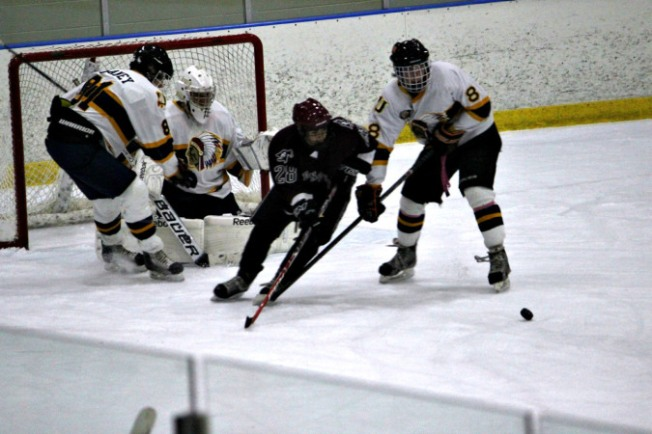Danny Hargadon scored one of six goals on the night for Unionville as the Indians defeated West Chester Henderson in their season opener at Ice Line. (Candice Monhollan)