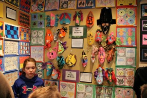 Student from East Goshen Elementary School will have their artwork displayed in the Exton Square Mall from Thursday through Sunday. (Candice Monhollan)