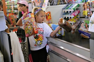 Third graders from Glen Acres Elementary School worked over the last month to form a nutritional shopping list for a family of four for four days with a budget of $100 and actually went shopping at West Chester's Shop Rite Wednesday. (Candice Monhollan)
