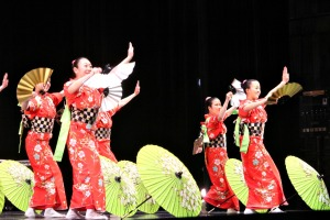WCU Live!, celebrating its 20th season, brought in Tamagawa University's Taiko & Dance group to perform on Tuesday night. (Candice Monhollan)