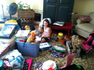 Molly Dolan, 11, has started Kids 4 Kids as a charity yard sale to raise money to distribute to nonprofit charities. (Mike Dolan)