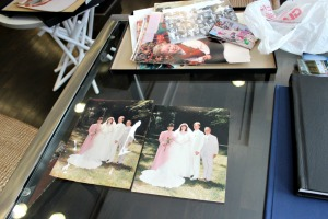Photography students at West Chester Rustin High School spent four months restoring photographs ruined in a fire for the Ceffaratti family. (Candace Monhollan)
