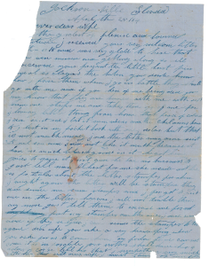 Jonathan White, a professor at the Christopher Newport University, scanned and transcribed three letters from Tillman Valentine, a sergeant in the 3rd U.S. Colored Infantry during the Civil War. (Jonathan White)