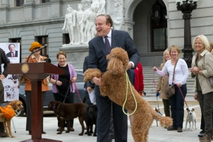 State Sen. Andy Dinniman is expanding Henry;s Cupboard, in honor of his dog Henry, to now go on the road. (Andy Dinniman)