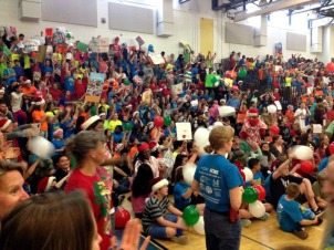 Students at Fugett Middle School took part in a lip dub video for Bringing Hope Home on June 5. (Candice Monhollan)