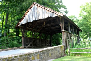 Residents of Glenbrook Lane want to work with East Goshen Township to repair and keep the Locksley Covered Bridge on their street. (Candice Monhollan)