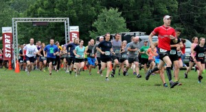 The fourth annual Trail Blazer Run attracted 323 people to take part in either the run or walk on June 18. (Candice Monhollan)