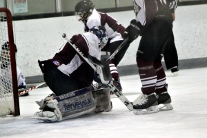 Oxford goaltender Ryan Snowden made 21 saves en route to a 2-0 shutout of Kennett Sunday night. (Candice Monhollan)