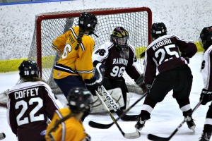 Goaltender Tessa Landry made an astonishing 63 saves for Radnor in a 2-2 tie with Unionville Wednesday night. (Candice Monhollan)