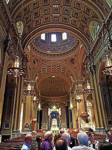 This is the inside of the Cathedral Basilica of Saints Peter and Paul, where Pope Francis will visit first once he arrives in Philadelphia in September. (Candice Monhollan)