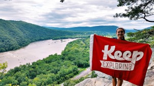 Colleen Goldhorn, a senior at West Chester University, will attempt to conquer the 2,180-mile Appalachian Trail over the summer of 2016. (Colleen Goldhorn)