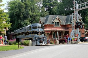The West Chester History Train took a trip from West Chester to Glen Mills on Sunday to educate the passengers on the history of the train, the tracks and some sites along the eight-mile stretch. (Candice Monhollan)