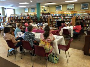 Local teachers and librarians took part in Teacher's Tea at the Chester County Book Store where they were able to meet an author and representatives from publishers on Wednesday. (Candice Monhollan)