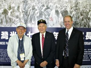 Alfred Miller, center, with a Chinese CBI veteran and state Rep. Duane Milne at the 70th anniversary of V-J Day celebration in Maryland Aug. 15. (Stephen Miller)