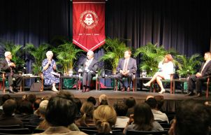A panel of five local religious and science leaders discussed climate change and its dangers with U.S. Sen. Bob Casey at Eastern Univesity on Sept. 18. (Candice Monhollan)