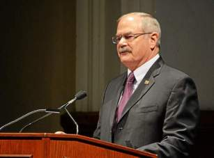 West Chester University President Greg Weisenstein announced on Thursday that he will retire at the end of the 2015-16 school year. (Vinny Tennis)