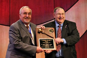 Martin Shane, East Goshen supervisor, received the President's Leadership Award for Township Supervisor at the annual Pennsylvania State Association of Township Supervisors conference in Hershey on Wednesday. (Candice Monhollan)