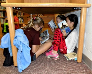 The annual Read Over at Mary C. Howse Elementary School gives students the opportunity to learn to love to read for fun outside of school and lets them have a night of fun in the school during a sleepover. (Daily Local News)