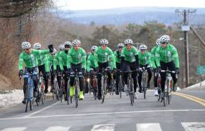 Team 26, a group of 26 cyclists riding from Newtown, Conn., to Washington, D.C., will stop at the Holi-day Inn Express in West Chester late Sunday afternoon. (Team 26)