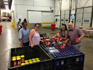 The Chester County Food Bank and the United Way of Chester County partnered for Better Together: Peanut Butter & Jelly Drive, raising over 9,000 pounds of the items from the community. (Chester County Food Bank)
