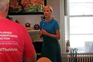 Planned Parenthood's Cecile Richards met with residents of Chester County to talk in support of Hillary Clinton and ways to get the voters out in November. (Candice Monhollan)