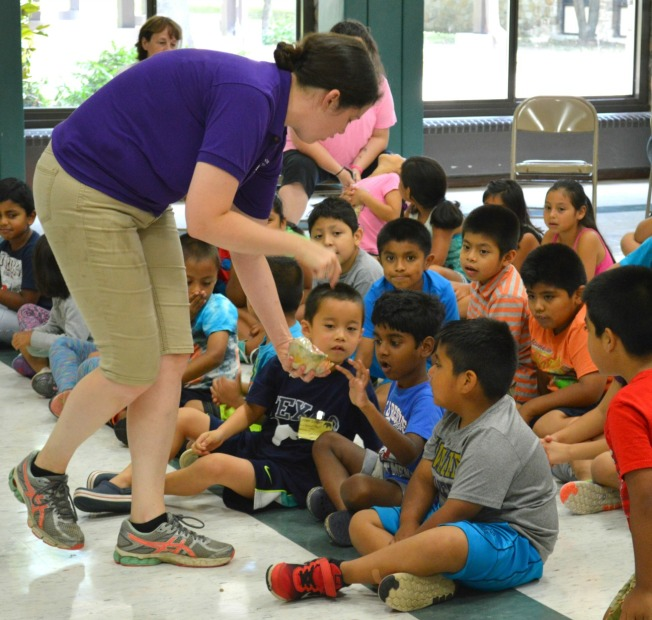 English Language Learners in the West Chester Area School District were able to attend a free, three-week camp that featured guests, including an Aquarium on Wheels from the Camden Adventure Aquarium. (Tracey Dukert)