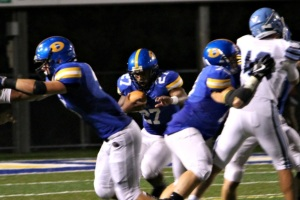 Despite running the most yards for his team, X was disappointed in himself in a tough loss for Downingtown West Friday night. (Patrick K. Henry)